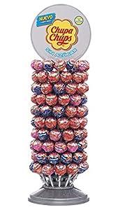 Chupa Chups Sin Azúcar, Caramelo con Palo de Sabores Variados, Rueda de 120 unidades de 11 gr. (Total 1.320 gr.)