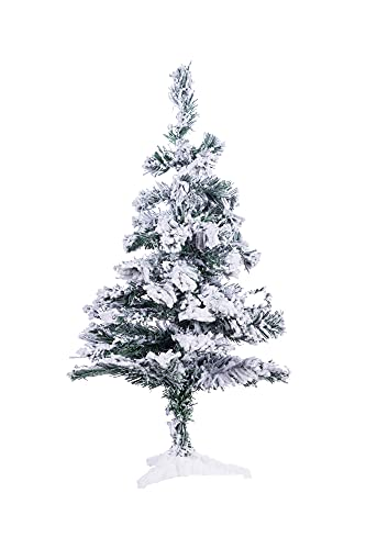 Perfect Holiday PVCS-2 Christmas Trees, 2 ft, Green/Flocked