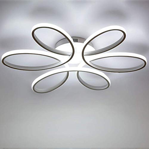 Plafoniera moderna a led luce bianca 6000k 75w lampada da soffitto a forma di fiore paralume in alluminio acrilico lampada da salotto illuminazione per interni illuminazione L58cm * h11cm