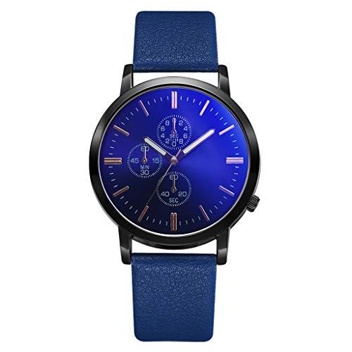 Quarzuhr Männer Armbanduhren für Herren,Herren Unauffällige Business Simple Fashion Gefälschte Drei Augen Dial Persönlichkeit Uhr von Evansamp(EIN)