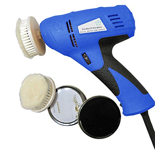 t9 Portable High Performance Electric Shoe Shine Kit, Has 2 Different Medium Nylon Brushes and 2 Scouring Pads, Especially Designed for Business Or Travel