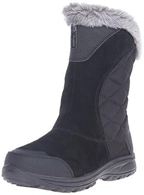 Columbia Women's ICE Maiden II Slip Snow Boot, Black/Shale, 9.5