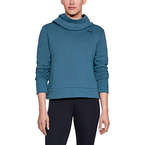 Under Armour Women's UA Cotton Fleece Logo Hoodie MD Static Blue Blue Classic Logo Hoody Sweatshirt