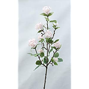 Artificial and Dried Flower 9 Small Snowballs Small Hydrangea Home Decoration Artificial Flower Snowball Fake Flower Silk Leaf Wedding Silk Leaves Mariage