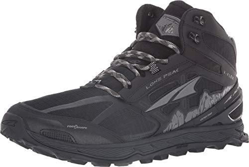 ALTRA Men's Lone Peak 4 Mid Mesh Trail Running Shoe, Black - 11 D(M) US