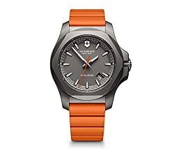 top rated Victorinox Swiss Army Men's Watch, Stainless Steel INOX Titanium, Swiss Quartz, Rubber Strap, Orange, 21… 2021