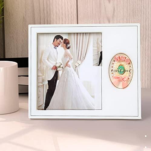 Bilderrahmen Harz Bilderrahmen Familienfotos Tisch Wanddekor 12,5*17,5cm weiß