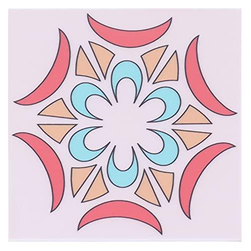 10 piezas de pegatinas para suelo de baldosas, calcomanías de pared impermeables antideslizantes para bricolaje, utilizadas en cocinas, baños, escaleras, armarios, dormitorios, suelos, paredes(Rosa)