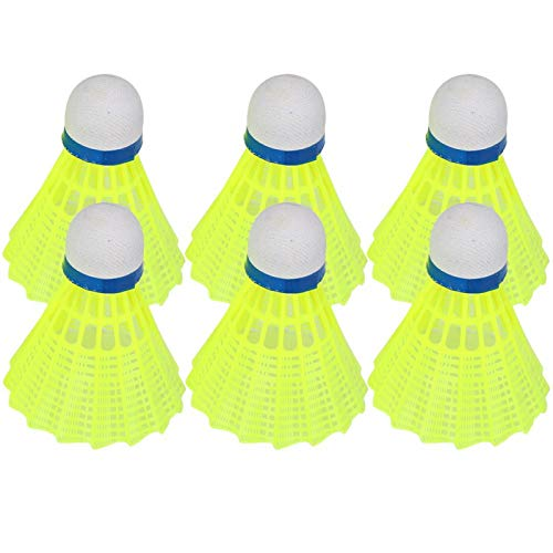 Roberee Badminton-6Pcs/Set Accessorio per Allenamento Sportivo all'aperto con Pallina da Badminton in Nylon Professionale