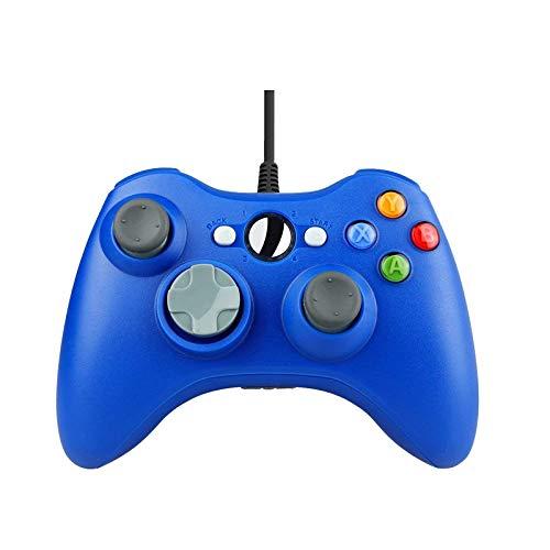 LXGUYA Controladores de conmutación X Pro Controlador de Juegos de PC con Cable USB para Xbox360 Consola Joypad para PC Windows 7/8/10 Joystick Controle Mando Gamepad Controladores (Color : Blue)