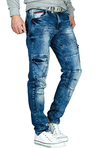 Cipo & Baxx Herren Jeans CD478-bans Blau W29/L32