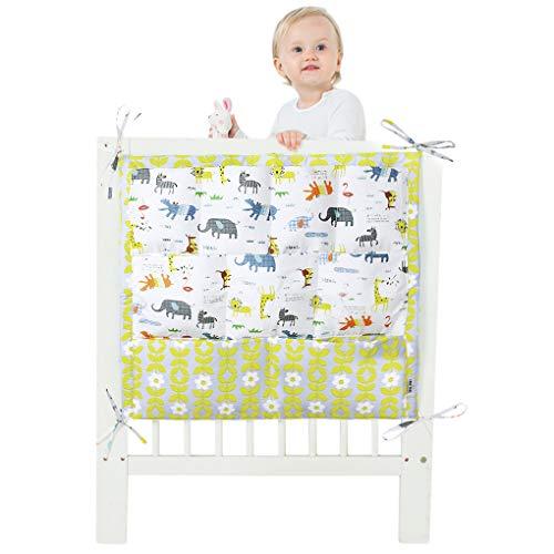 9tasche per lettino, portaoggetti da appendere borsa fasciatoio nursery Storage vestiti pannolini coperte giocattoli borsa organizer Bedside Caddy per lettino letto