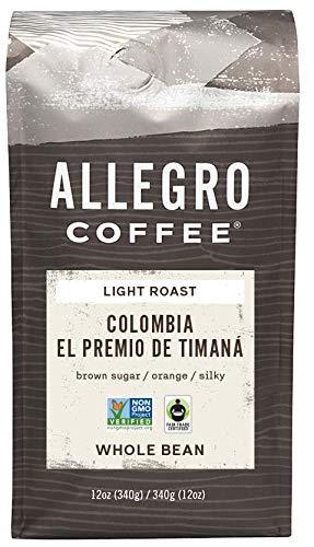 Allegro Coffee Colombia Whole Bean Coffee, 12 oz
