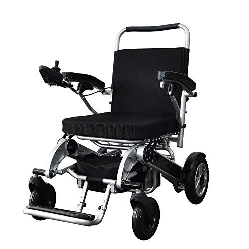 Silla plegable plegable plegable de la ayuda de la movilidad de la energía, silla de ruedas eléctrica ligera de transporte plegable, silla de ruedas motorizada, silla de ruedas plegable del tr