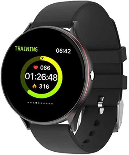 Reloj inteligente Ip67 impermeable pantalla táctil completa ritmo cardíaco presión arterial deporte Smartwatch para hombres y mujeres para Android 4.4 y Amp iOS 9.0 o superior desgaste diario negro