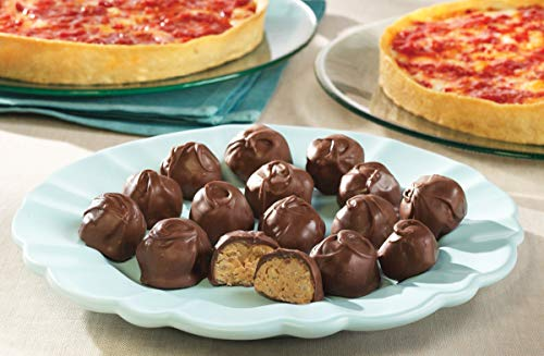 2 Lou Malnati's Deep Dish Pizzas and Kay's Peanut Butter Crunch Balls (1 Pepperoni 1 Spinach)