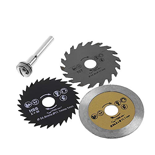 Ontracker 3 pieces diameter 54.8 mm mini wood circular saw blade cutting blade