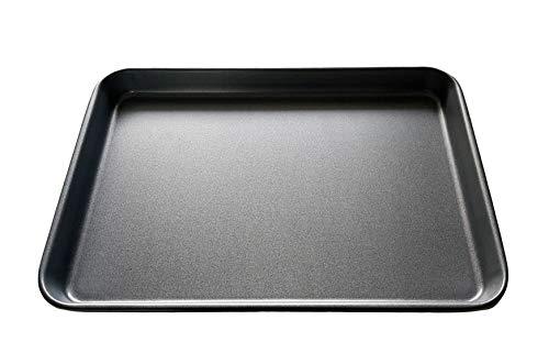 Juego de bandeja de horno de acero al carbono de 40 cm, bandeja de horno antiadherente, revestimiento de TeflonTM, apto para lavavajillas y fácil de limpiar