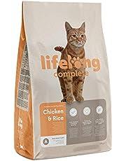 Marca Amazon - Lifelong Complete- Alimento seco completo para gatos adultos rico en pollo y arroz, 1 x 10 kg