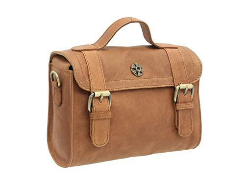 Mala Leather Tudor Collection Satchel Grab/Shoulder Bag 7141_88 Tan
