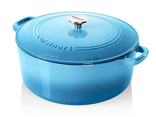 Cuisinart Cast Iron Casserole, Blue Gradient, 7-Quart