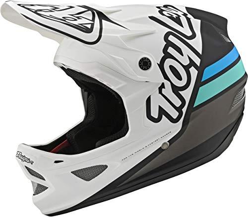 Troy Lee Designs D3 Silhouette Downhill Helm Weiß/Schwarz/Silber M