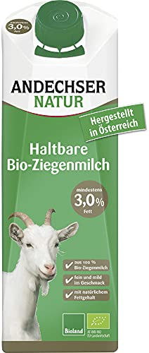 Andechser Natur Bio Ziegen-H-Milch 3,0% (6 x 1000 ml)
