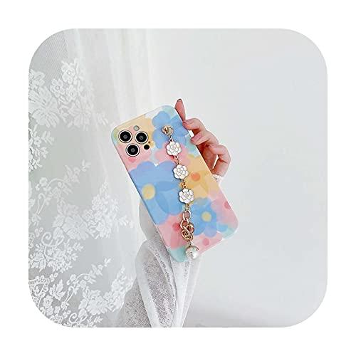 Lindo Camellia pulsera flor pintura teléfono caso para iphone 12 mini 8 7 plus X XR XS Max SE 2020 11 Pro Max silicona cubierta capa-CN166-for-iphoneXS