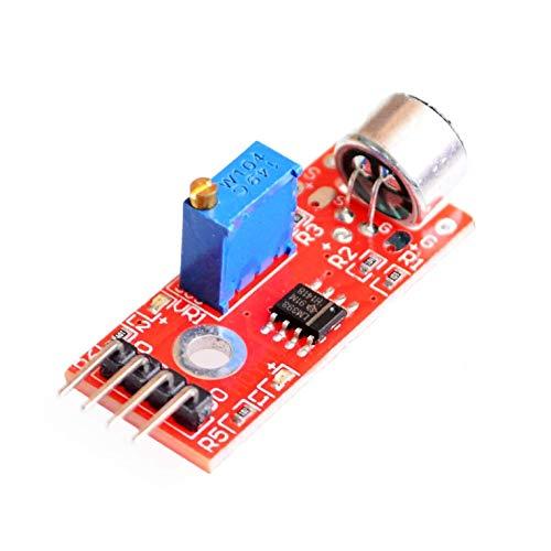 GzxLaY Brandneues KY-037 Neues 4-poliges Sprachmelderkennungssensormodul Mikrofonsender Smart Robot Car für DIY Kit Langlebig