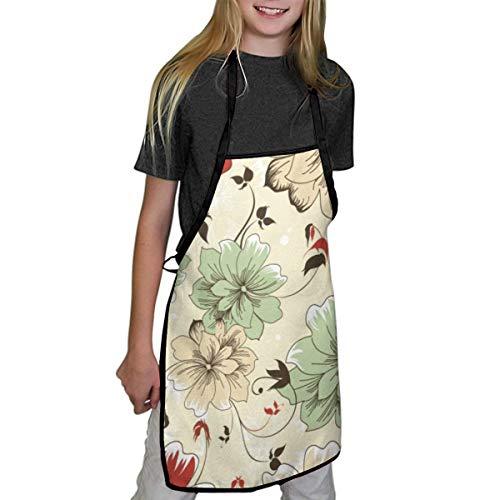 N/A schorten voor kinderen mooie bloem patroon kinderschorten kind chef-kok schorten voor jongens en meisjes koken bakken schilderen schorten in 2 maten