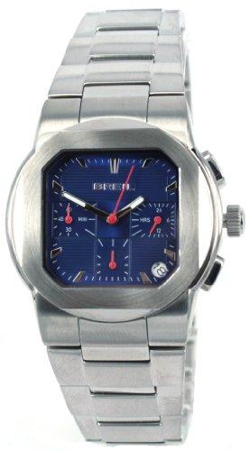 Breil TW0590 - Reloj analógico de caballero de cuarzo con correa de acero inoxidable plateada