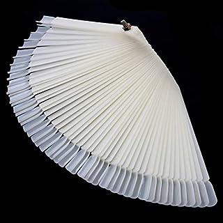 50/Set Nail Art Tips Display Practice Sticks Fan Shaped Nail Polish Swatches Nail Color Sample Nail Art Tools Supplies - N...