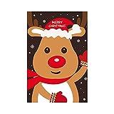 Tarjeta Navidad Navidad le agradece cardar Mensaje Party Tarjetas Bricolaje Creativo Bendición Invitaciones Año Nuevo Tarjeta de felicitación Regalo Aniversario Navidad (Color : F)