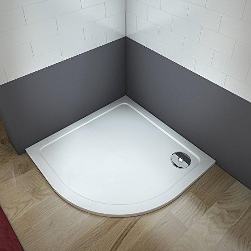 Viertelkreis Duschwanne Duschtasse für Runddusche Duschkabine Duschabtrennung 90x90x3cm