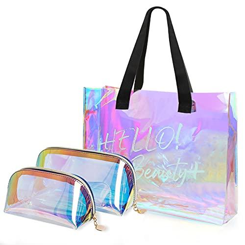 Bolsas de Aseo, Jolintek Kit de 3 Piezas Bolsa de Cosméticos, Bolsa de Maquillaje Cosméticos, Organizador Impermeable de Viaje para Mujer