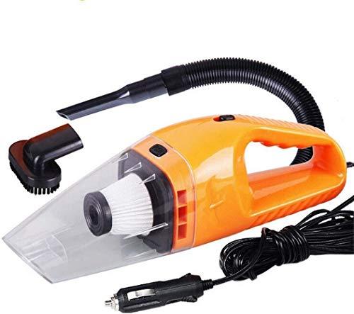 Auto-Staubsauger 12V 120W Saugleistung Nass- und Trocken 4000PA Saugleistung Staubsauger mit 5M Netzkabel for Auto (Color : Orange)