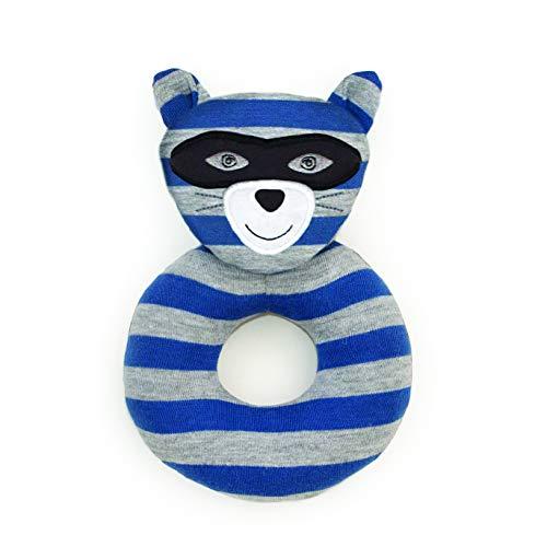 Apple Park Anneau hochet Chat Robbie Raccoon Organic Farm Buddies