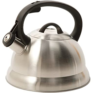 Mr. Coffee 91407.02  Flintshire Stainless Steel Whistling Tea Kettle, 1.75-Quart, Silver