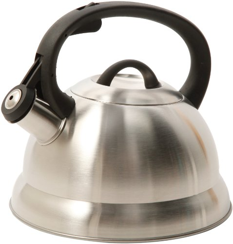 Mr. Coffee Flintshire Stainless Steel Whistling Tea Kettle, 1.75-Quart, Brushed Satin
