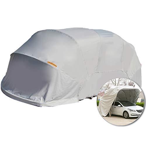 LiChenY Mobile Garage Zelt - Tragbare Garage Carport Shelter - 5,5 M * 2,5m - Hydraulik Halbautomatisch - Edelstahl - Anti-UV Wasserdicht Sonnensicher Winddicht (Color : Gray, Size : No Foundation)