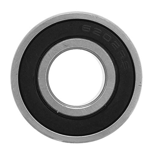 Rodamientos de bolas, 6202-2rs Rodamientos de bolas de acero de ranura profunda sellados de goma de doble cara 10 piezas 15x35x11 mm