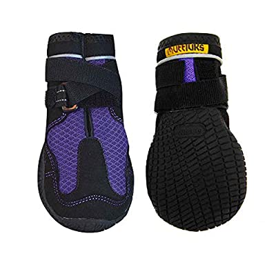 Muttluks Mud Monsters Rugged Summer Dog Boots - Set of 2 - Size 10 (XL) - Purple 2 pk