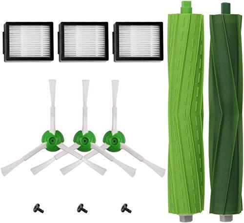 AplusTech Kit Recambios Repuestos y Accesorios Filtro, Cepillo Lateral y Rodillos Compatible con Aspiradora iRobot Roomba i7 i7+ y E5 E6 E7 -Pack de 11PCS