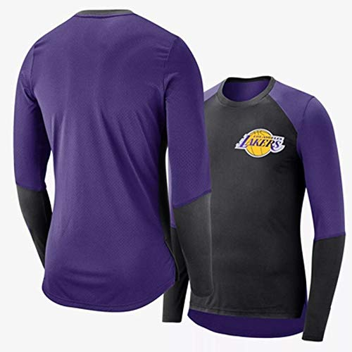 Medias De Camiseta De Manga Larga NBA Spurs Clippers, Transpirable, De Secado Rápido Y Entrenamiento For Jugar El Traje De Calentamiento Deportivo De Baloncesto ( Color : Purple , Size : X-Large )