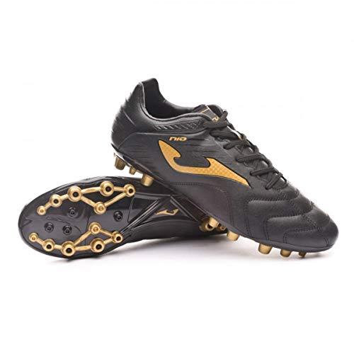 Joma N-10 AG, Bota de fútbol, Negro-Oro, Talla 8.5 US (42 EU)