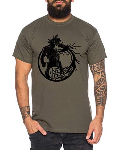 Tee Kiki Son Dragon - Camiseta de Hombre Son Ruffy Luffy Naruto Saitama One Dragon Master...