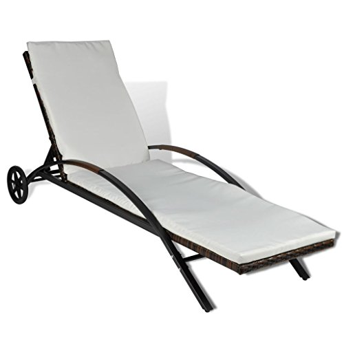 Festnight Chaise Longue Rotin synthétique