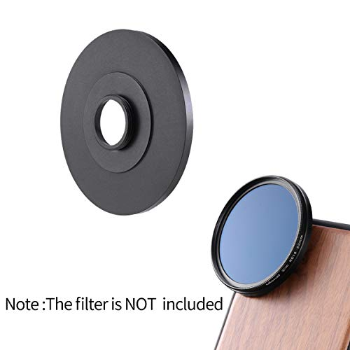 ULANZI 17mm to 52mm Cellphone Lens Filter Adapter Ring for iPhone 11 Pro Max Samsung Galaxy Google Pixel Oneplus Smartphone, Work with All Ulanzi Phone Case with 17mm Lens Thread