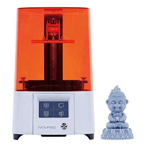 NOVA3D Elfin2 Mono SE 3D LCD Resin Printer Auto Calibration & WiFi Printing, 130x70x150mm Print Size & Built in 8GB Memory
