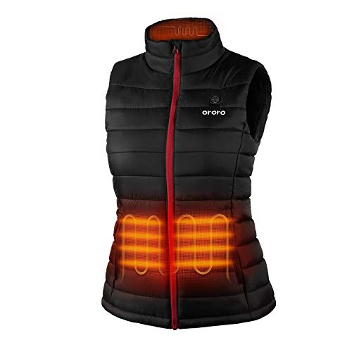 ORORO Women's Lightweight Heated Vest with Battery Pack (Medium)
